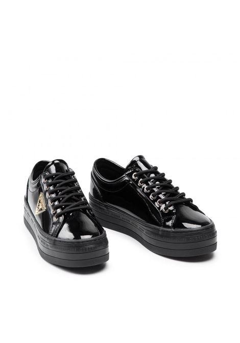 Sneaker bhania vernice logo GUESS FOOTWEAR | Sneakers | FL7BHA PAF12BLACK