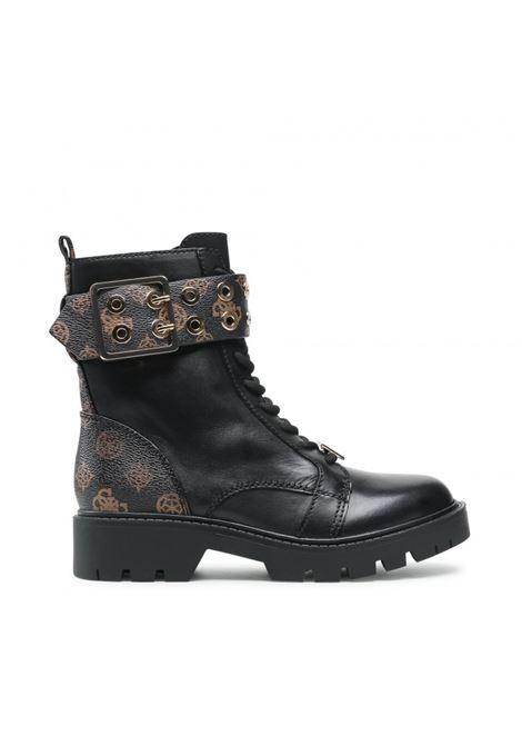 Anfibio riter vera pelle logo GUESS FOOTWEAR | Stivaletti | FL7R2R FAL10BROCR