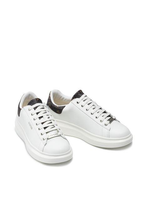 Sneaker salerno vera pelle GUESS FOOTWEAR | Sneakers | FM7SLR LEA12WHIBR