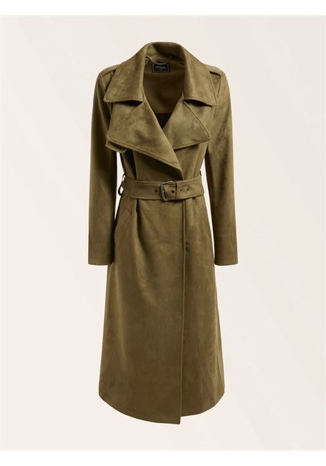 Trench lungo simil scamosciatoh GUESS | Cappotti | W1BL35 WE4T0AUFL