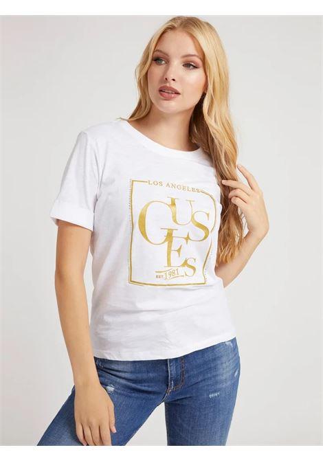 T-shirt stampa frontale simonne GUESS | T-shirt | W1YI0Q R8G00G011