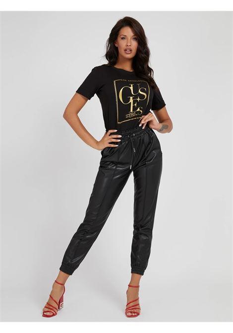 T-shirt stampa frontale simonne GUESS | T-shirt | W1YI0Q R8G00JBLK