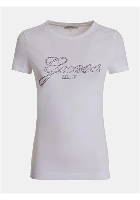 T-SHIRT LOGO STRASS GUESS | T-shirt | W1YI85 J1311G011