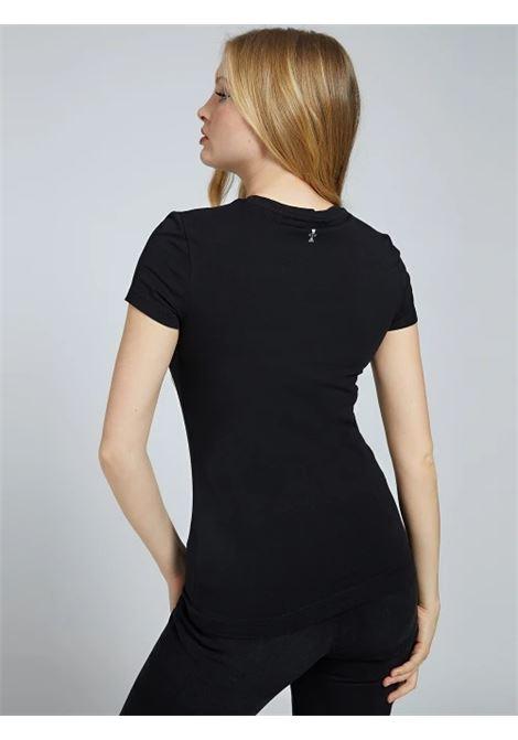 T-SHIRT LOGO STRASS GUESS | T-shirt | W1YI85 J1311JBLK