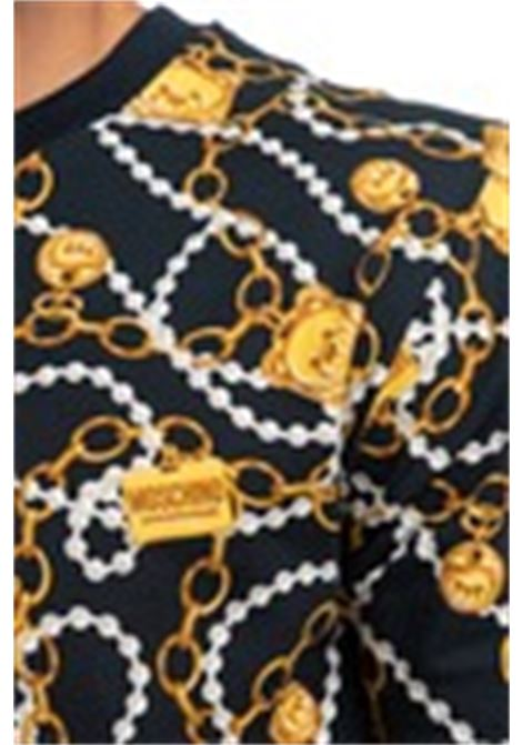 T-shirt stampa catena teddy nero MOSCHINO | T-shirt | 1902 9009A1555