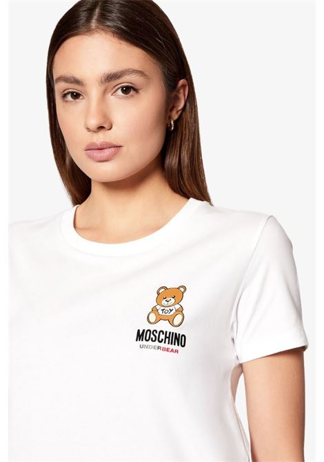 T-SHIRT MANICHE CORTE LOGO TEDDY BEAR MOSCHINO | T-shirt | 1921 9003A0001
