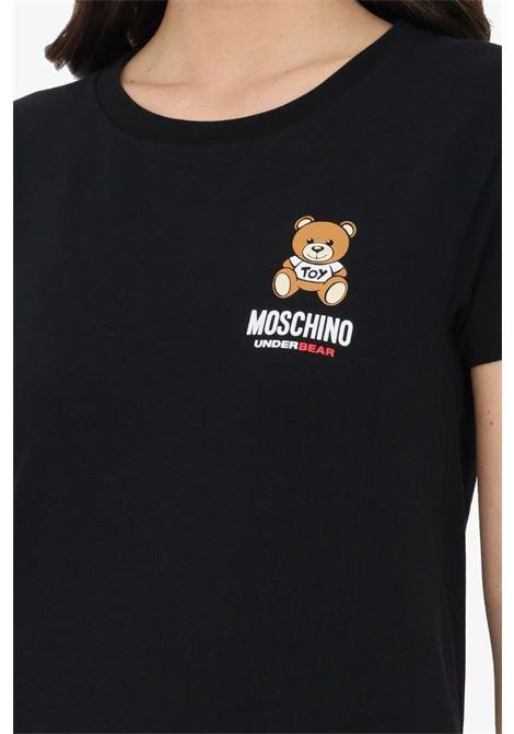T-SHIRT MANICHE CORTE LOGO TEDDY BEAR MOSCHINO | T-shirt | 1921 9003A0555