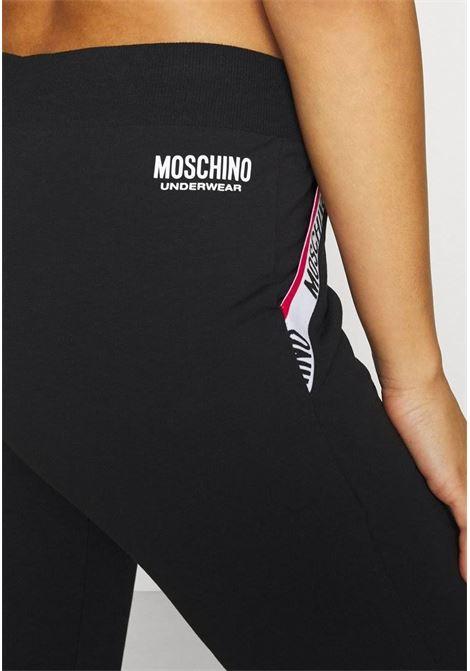 Pantaloni felpa con banda logo alle tasche MOSCHINO | Pantaloni | 4304 9004A0555