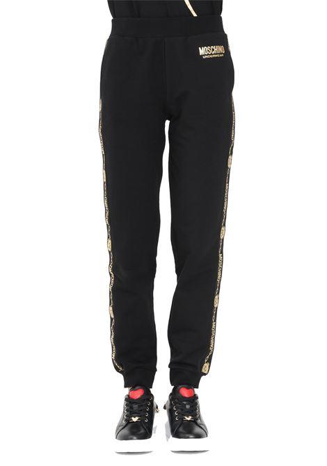pantalone felpa con bande logate MOSCHINO | Pantaloni | 4317 9011A0555