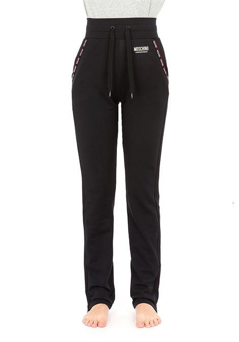 pantalone con bandine logate alle tasche MOSCHINO | Pantaloni | 4320 9020A0555