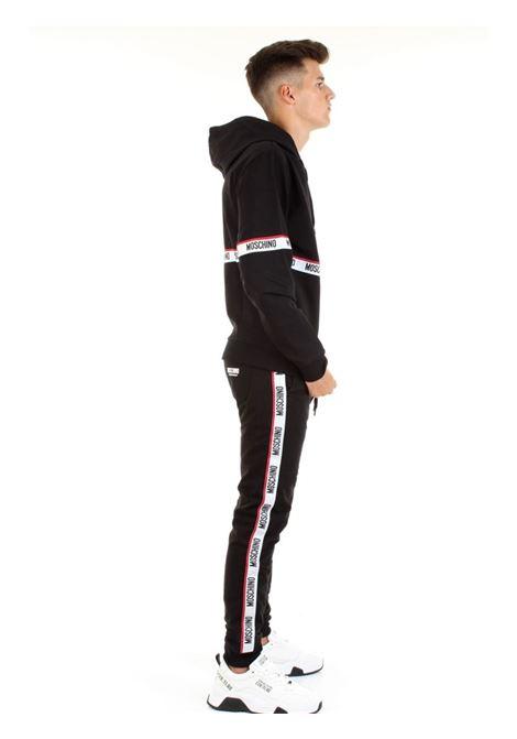 pantalone in jersey con bande laterali MOSCHINO | Pantalone | 4333 8104A0555