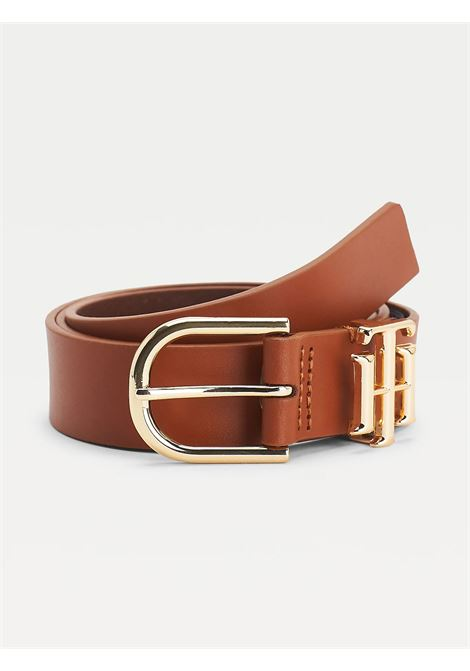 CINTURA LUXE IN ECOPELLE TOMMY HILFIGER | Cinture | AW0AW10587GB8 COGNAC