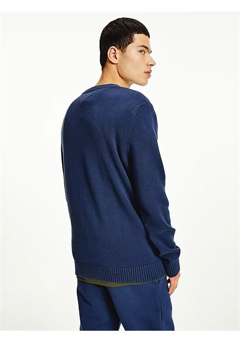 PULLOVER ESSENTIAL IN COTONE BIOLOGICO TOMMY JEANS | Maglie | DM0DM11856C87 TWILIGHT NAVY
