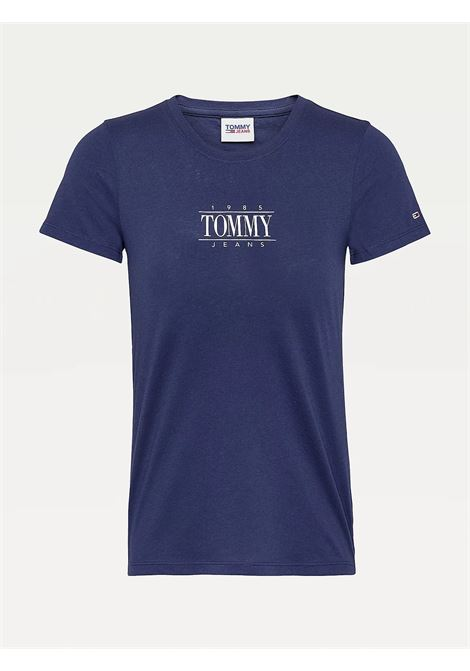 T-SHIRT ESSENTIAL SKINNY FIT CON LOGO TOMMY JEANS | T-shirt | DW0DW11239C87 TWILIGHT NAVY
