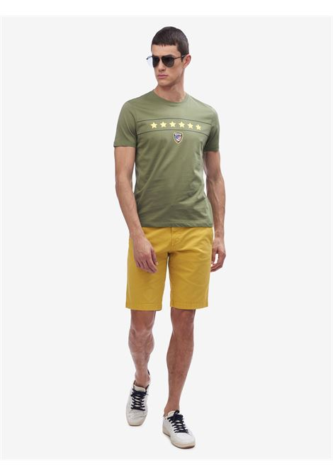 T-SHIRT SEI STELLE BLAUER | T-shirt | 20SBLUH02167 004547694 VERDE OLIVASTRO