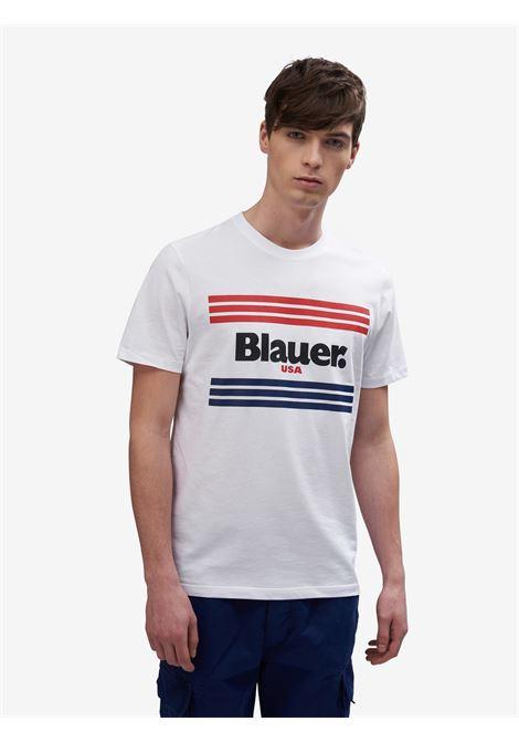 T-SHIRT A STRISCE BLAUER | T-shirt | 20SBLUH02178 004547100 BIANCO OTTICO