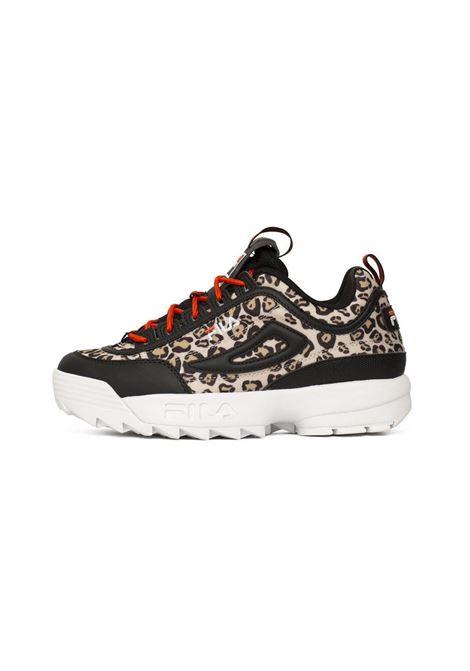 Sneakers in pelle nera FILA FOOTWEAR | Scarpe | 101086353X LEOPARD/BLACK
