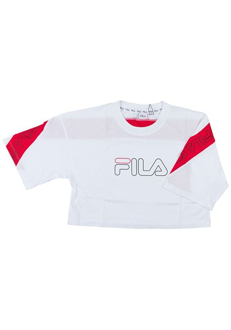 T-shirt con stampa FILA | T-shirt | 683072A138 BRIGHT WHITE-TRUE RED
