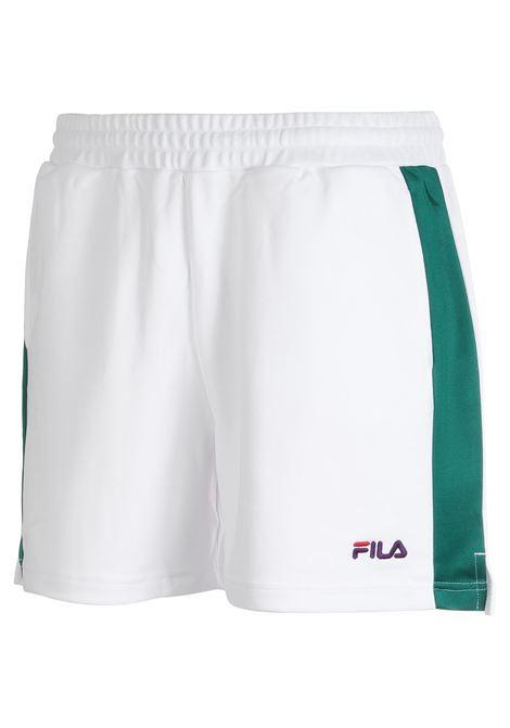 Shorts con elastico FILA | Pantalone | 687485A119 BRIGHT WHITE-SHADY GLADE