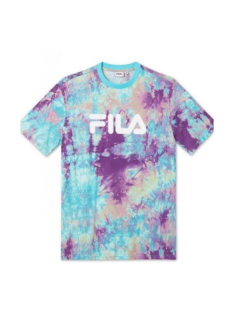 T-shirt fantasia con logo FILA | T-shirt | 687617A432 LILAC BATIK ALLOVER