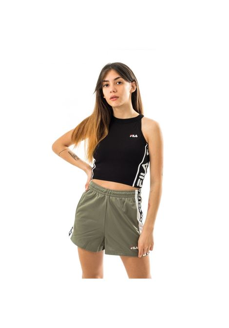 Shorts vita alta FILA | Pantalone | 687689A439 SEA SPRAY-BRIGHT WHITE