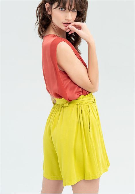 Shorts a sacchetto con fiocco FRACOMINA   Pantalone   FR20SM538G48 AVOCADO