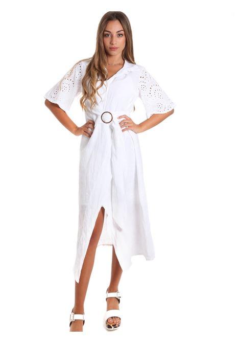 Vestito chemisier in lino FRACOMINA | Abiti | FR20SM561278 WHITE