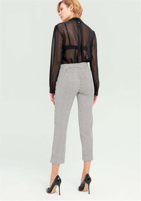 Pantalone cropped a righe FRACOMINA   Pantalone   FR20SP163109 CREAMBLACK