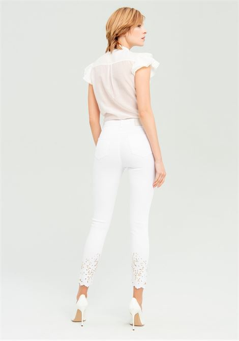 Jeans bianchi con strass FRACOMINA | Jeans | FR20SPJSUSAN278 WHITE