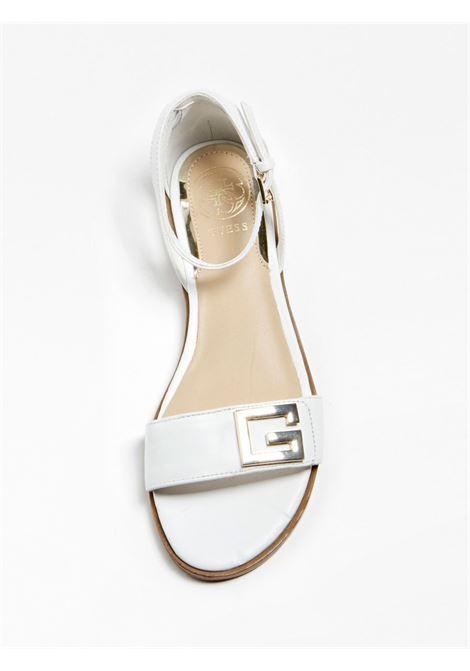 SANDALO BASSO RASHIDA PELLE GUESS FOOTWEAR | Scarpe | FL6AIA LEA03WHITE