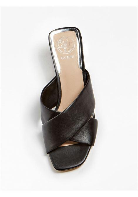 SANDALO MADRA VERA PELLE GUESS FOOTWEAR | Scarpe | FL6DRA LEA03BLACK