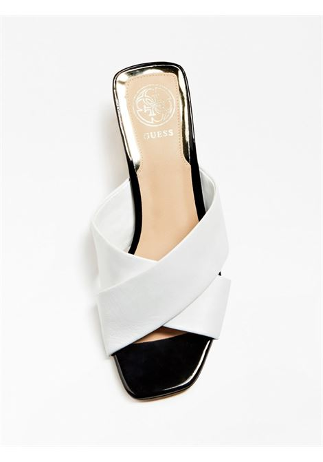 SANDALO MADRA VERA PELLE GUESS FOOTWEAR | Scarpe | FL6DRA LEA03WHITE