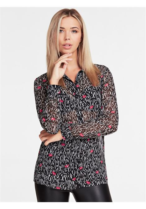 Camicia Stampa All over GUESS | Camicia | W01H81 WBTY0PX97