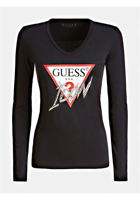 T-shirt Logo Icon GUESS | T-shirt | W01I0F J1300JBLK