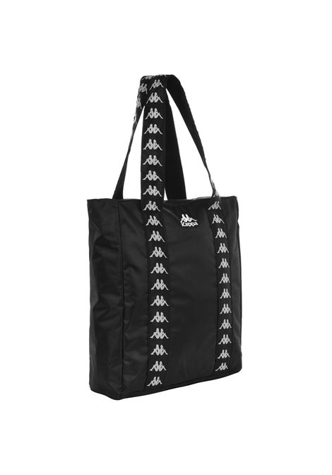 Shopping bag unisex in poliestere. Kappa | Borse | 3030CH0902 BLACK-WHITE