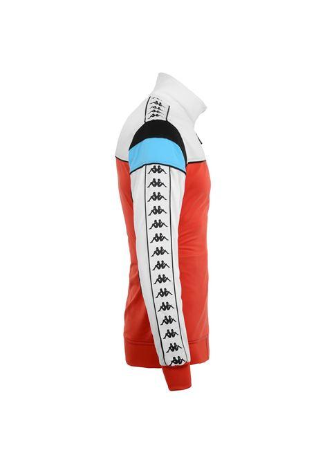 Felpa da uomo in tricot garzato. Kappa | Felpe | 303LP60A65 RED-WHITE-BLACK