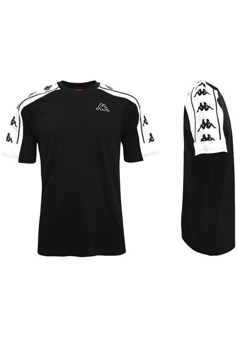 T-Shirt unisex girocollo in jersey Kappa | T-shirt | 304I050903 BLACK-WHITE