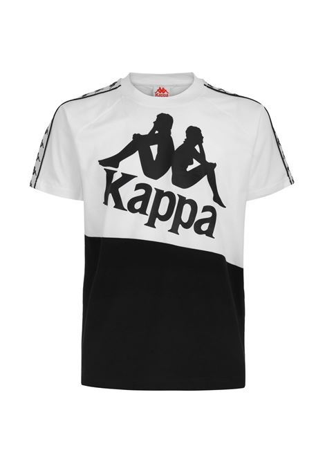 T-shirt da uomo in jersey Kappa | T-shirt | 304NQB0938 WHITE-BLACK-WHITE
