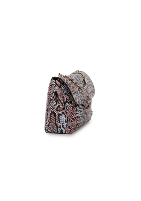 borsa valentina in tekno fabric reptile LA FILLE DES FLEURS   Borsa   VALENTINAREP387 REPTILE OLD PINK