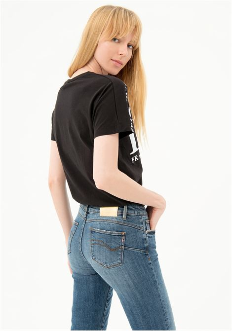 JEANS CROPPED IN DENIM CON LAVAGGIO MEDIO BASIC FRACOMINA | Jeans | FP21SP5047D40102349 STONEWASH