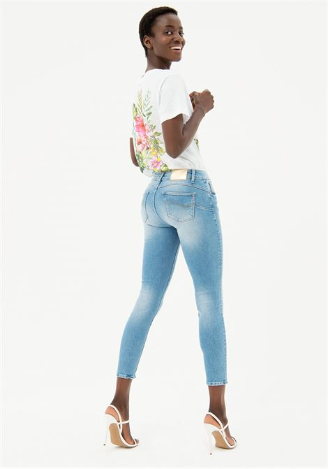 JEANS SKINNY IN DENIM STRETCH CON LAVAGGIO CHIARO BLEACHED FRACOMINA | Jeans | FP21SP5011D40103062 BLEACH