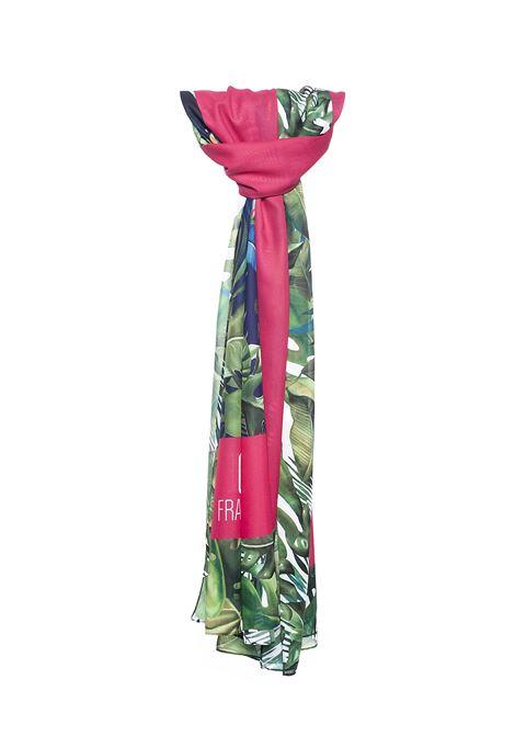 FOULARD REGULAR CON STAMPA TROPICAL FRACOMINA | Foulard | FR21SA3002W441N4146 FLOWERS