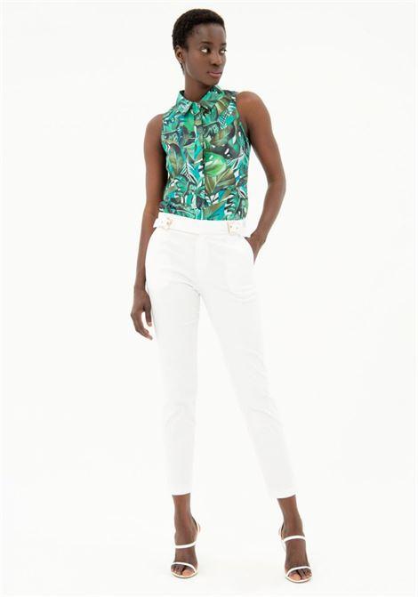 Pantalone chino FRACOMINA | Pantalone | FR21SP3007W44001278 WHITE