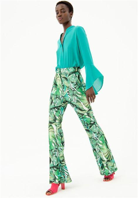 Pantalone fantasia FRACOMINA | Pantalone | FR21SP8002W436N4152 GREEN