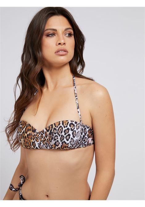 BIKINI A FASCIA STAMPA ANIMALIER GUESS ACTIWEAR | Bikini - pezzo sopra | E1GJ50 MC045P1H6