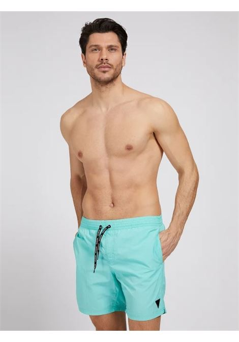 COSTUME A CALZONCINO IN NYLON GUESS ACTIWEAR | Shorts | F02T01 TEL27G753