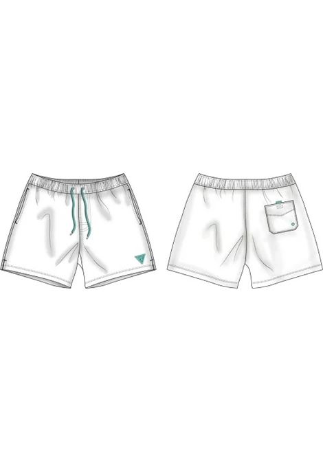 COSTUME A CALZONCINO IN NYLON GUESS ACTIWEAR | Shorts | F02T01 TEL27TWHT