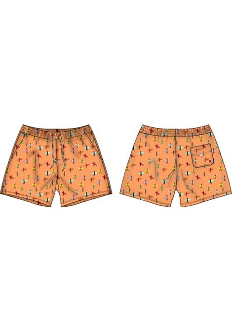 COSTUME BERMUDA STAMPA ALL OVER GUESS ACTIWEAR | Shorts | F1GT03 WO05YG5O4