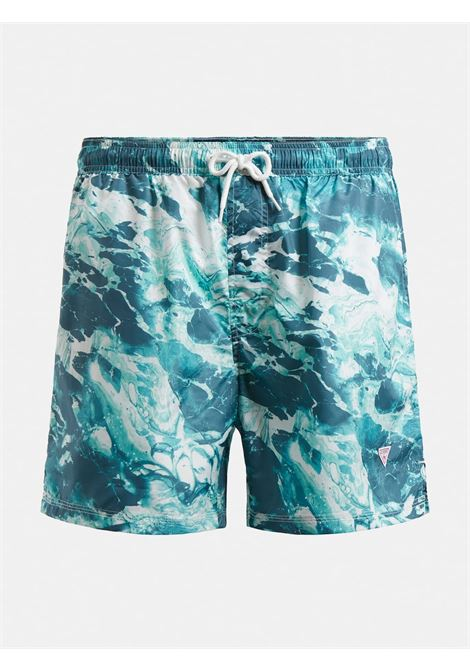 COSTUME BERMUDA STAMPA ALL OVER GUESS ACTIWEAR | Shorts | F1GT03 WO05YP8M1