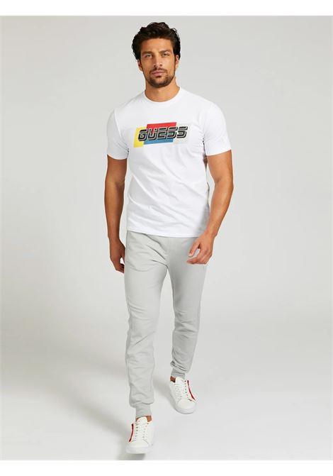 T-SHIRT COTONE LOGO GUESS ACTIWEAR | T-shirt | U1GA32 J1311TWHT